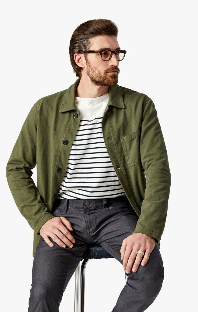 34 heritage - Cool Antracite Reversed Twill - LE CAPITAINE D'A BORD