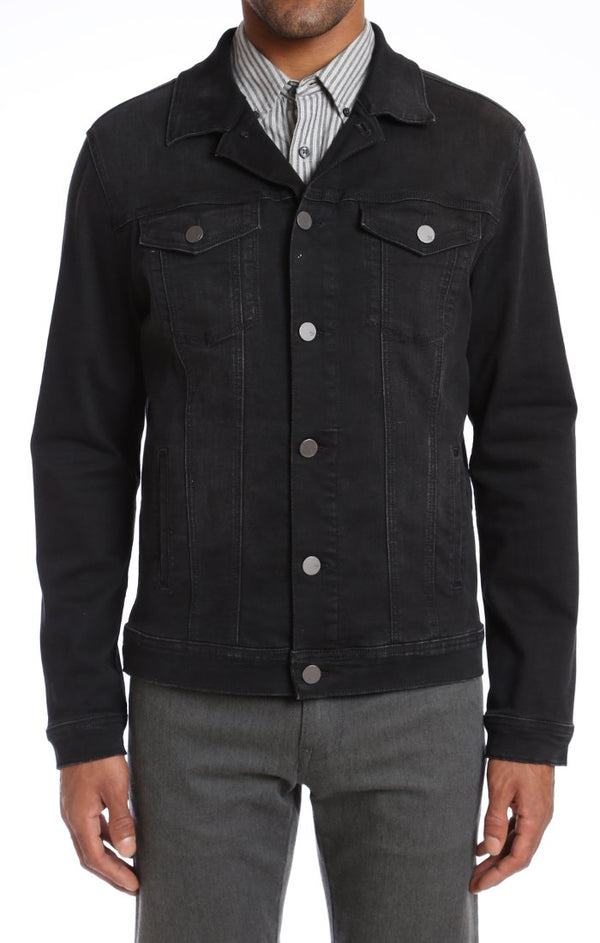 34 heritage - Jacket Travis Black Soft Comfort - LE CAPITAINE D'A BORD