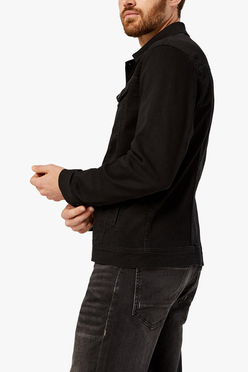 34 heritage - Jacket Travis Black Brushed Denim - LE CAPITAINE D'A BORD