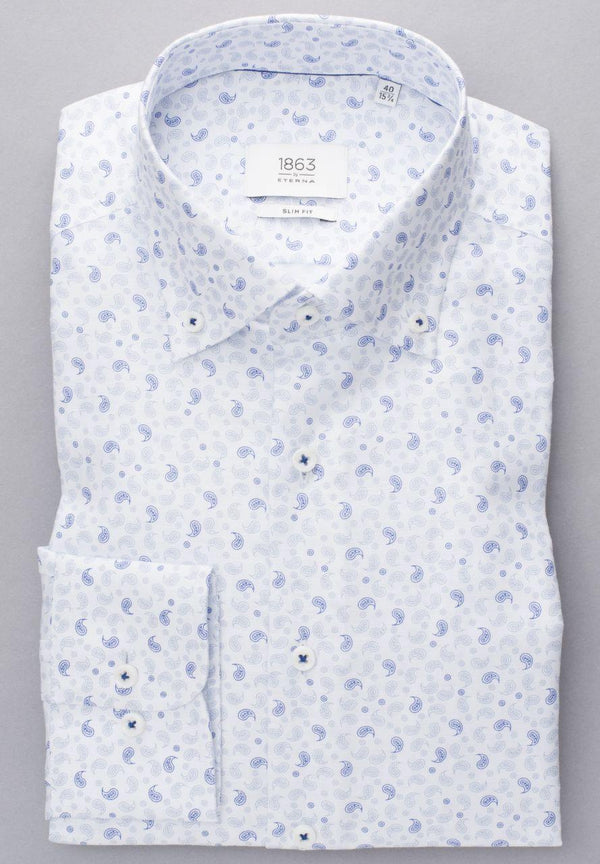 ETERNA - Chemise paisley manches longues Modern Fit