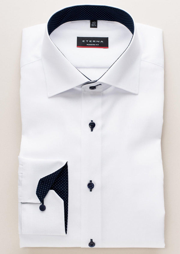 ETERNA - Chemise manches longues Modern Fit - Blanc - LE CAPITAINE D'A BORD - 1