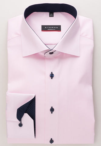 ETERNA - Chemise manches longues Modern Fit - Rose