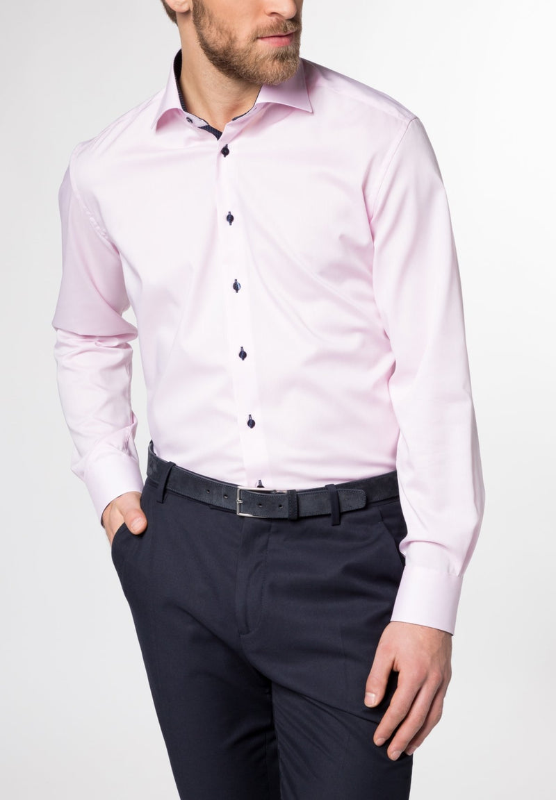 ETERNA - Chemise manches longues Modern Fit - Rose - LE CAPITAINE D'A BORD