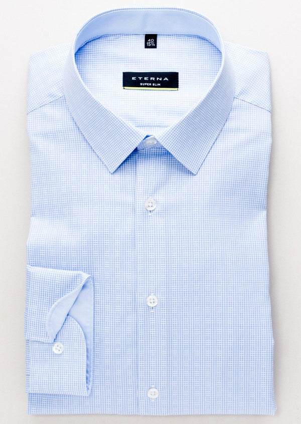 ETERNA - Chemise manches longues Modern Fit - Bleu