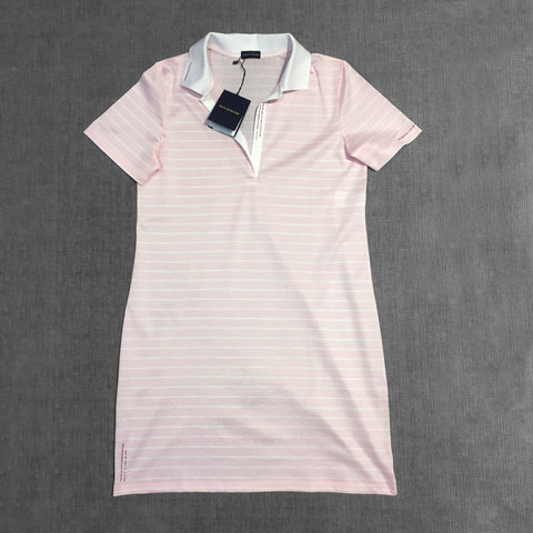 Paul & Shark Ladies - Robe rayée à col polo - Rose