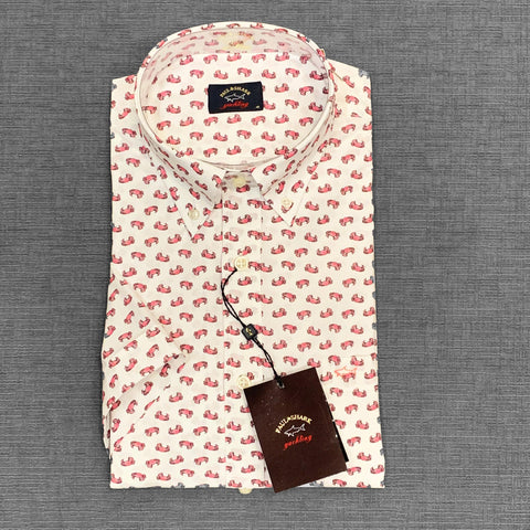 Paul & Shark - Chemise manches courtes crabes