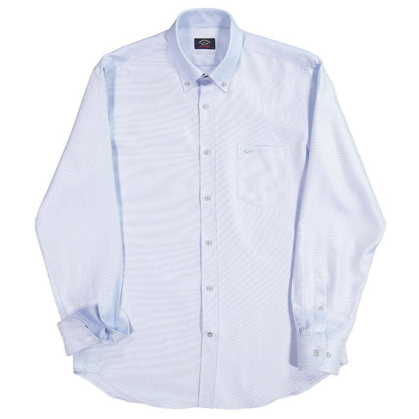 Paul & Shark - Chemise de coton oxford Silver Collection - LE CAPITAINE D'A BORD