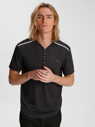 John Varvatos - Lansing Snap Henley (disponible en 2 couleurs)