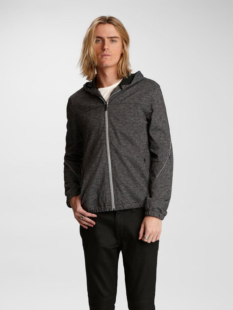 John Varvatos - Macomb Reflective Hoodie - LE CAPITAINE D'A BORD