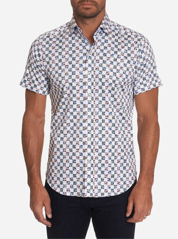 Robert Graham - Chemise manches courtes Racing Flags
