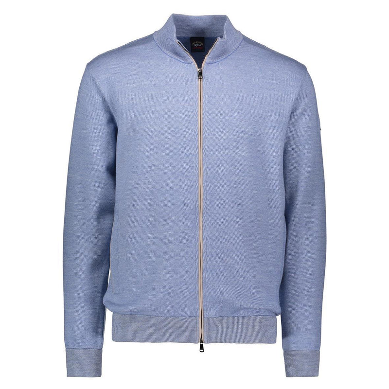 Paul & Shark - Cardigan zip de laine oxford (disponible en plusieurs couleurs) - LE CAPITAINE D'A BORD