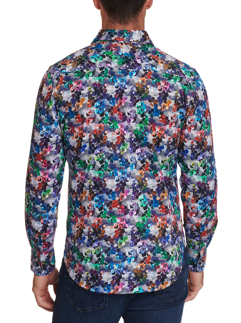 Robert Graham - Chemise Mixed Media - LE CAPITAINE D'A BORD