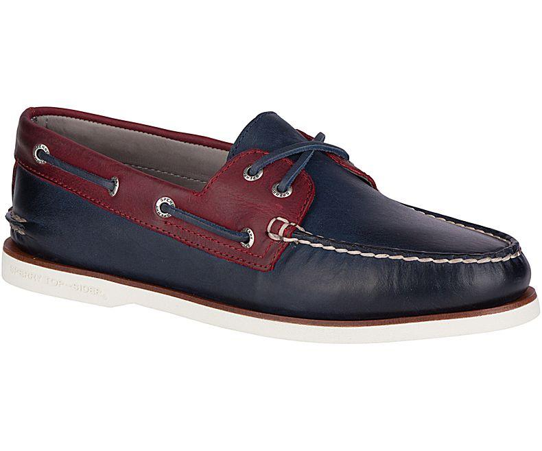 Sperry - Gold A/O 2-Eye - Navy/Red