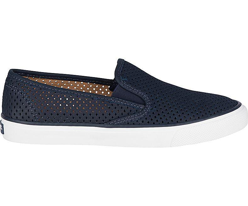 Sperry - Seaside Perforated Leather - Marine