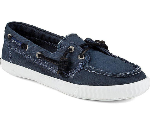 Sperry - Sayel Away Washed Canvas - Marine - LE CAPITAINE D'A BORD