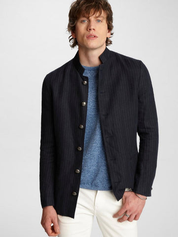 John Varvatos - Willy Indigo Pinstripe Jacket