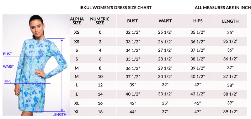 Ibkül - Willow Print Sleeveless Zip Mock Neck Dress - 56409 - LE CAPITAINE D'A BORD