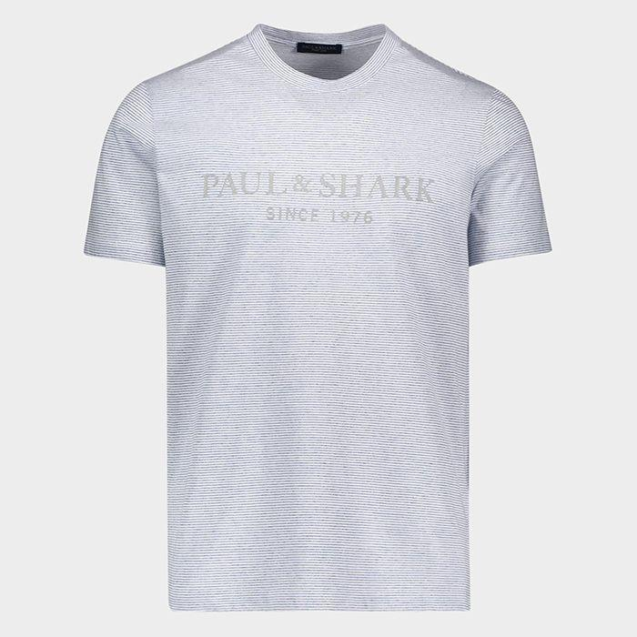 Paul & Shark - T-shirt mini-rayé Logo SINCE 1976 - LE CAPITAINE D'A BORD