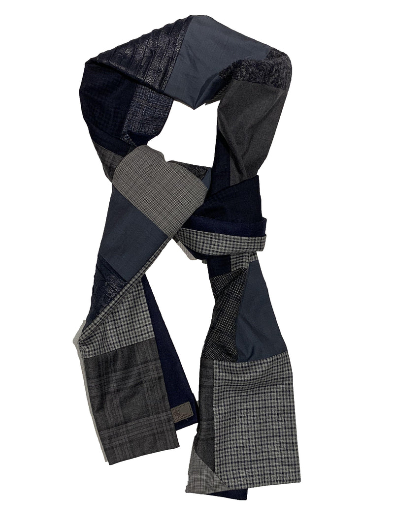 Swell Fellow - Foulard Patchwork - Bleu/Gris