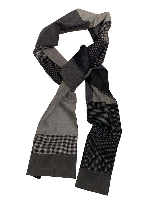 Swell Fellow - Foulard Patchwork - Charcoal - LE CAPITAINE D'A BORD