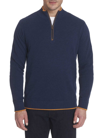 Robert Graham - Selleck Col Zip de Coton