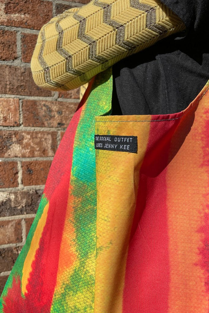 perfect for carrying groceries, work or the gym - each features one of our woven tags marking the beautiful collaboration with Jenny Kee & Linda Jackson.