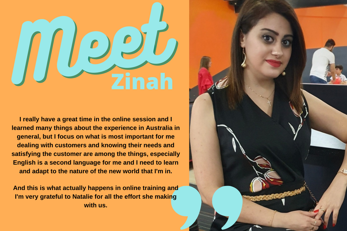 Meet our retail trainee Zinah!