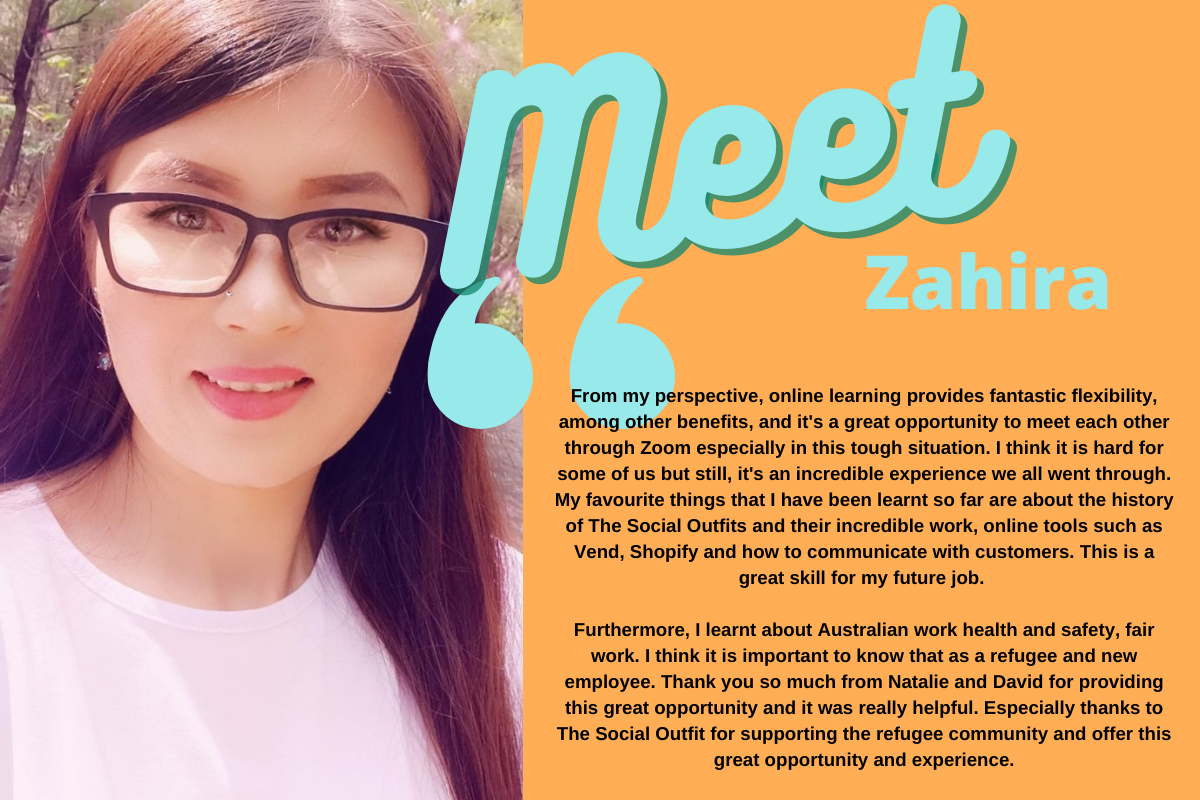 meet zahira, one of our retail trainees