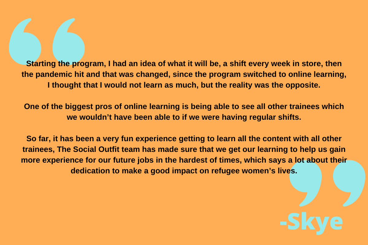 hear from our retail trainee Skye