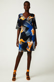 Topographic Bloom Wrap Dress (was $449)