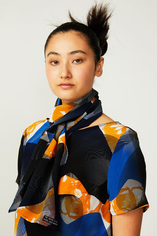 Topographic Bloom Rectangular Scarf