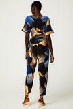 Topographic Bloom Wrap Jumpsuit