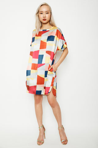 Colourblock Scoop Dress
