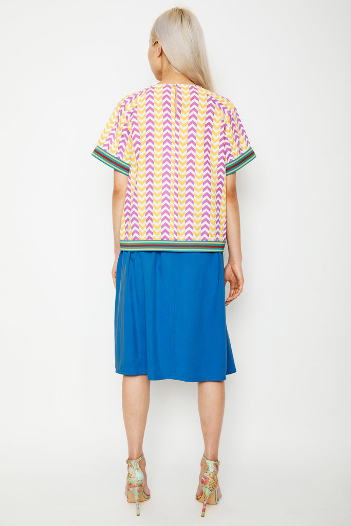 Cerulean Gathered Skirt (was $169)