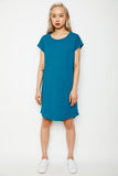 Dorsu x The Social Outfit Turquoise Rolled Sleeve Dress (was $69) - Last one! (XL)