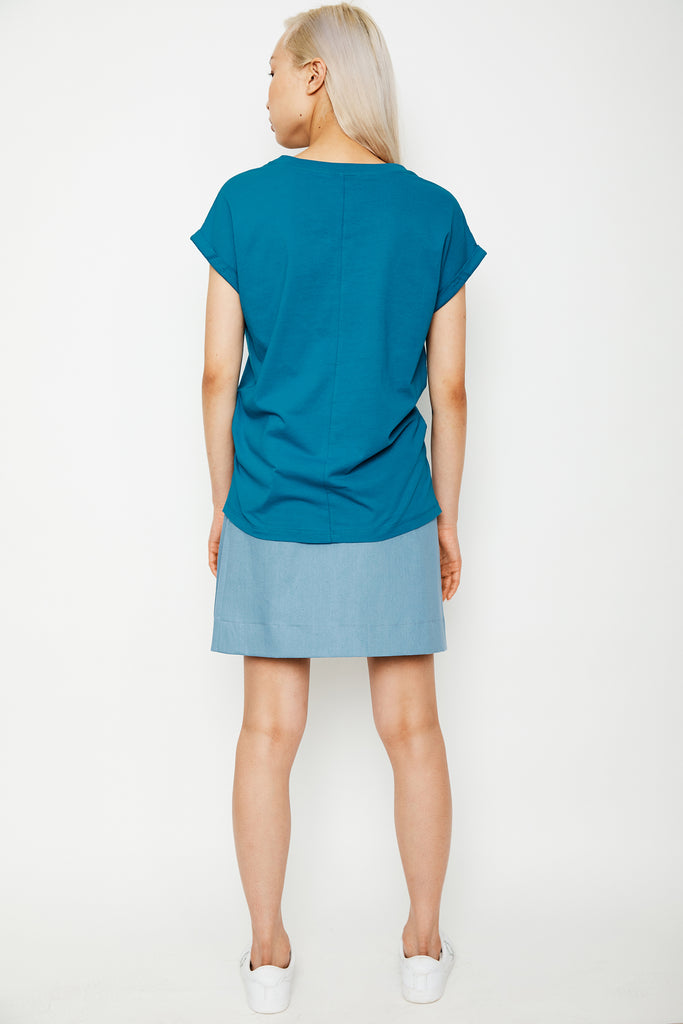 Light Denim Wrap Mini Skirt (was $169)