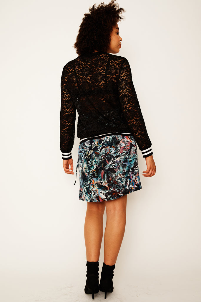 Smoking Mirror Remix Wrap Skirt