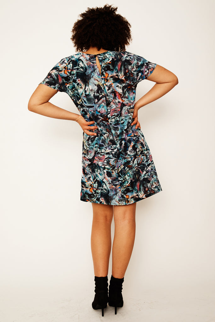 Smoking Mirror Remix Dolman Dress