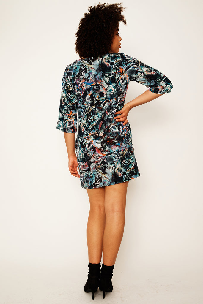 Smoking Mirror Remix Shift Dress
