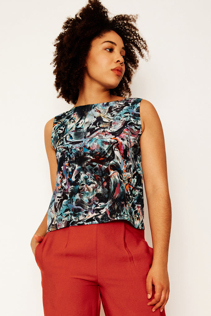 Smoking Mirror Remix Shell Top