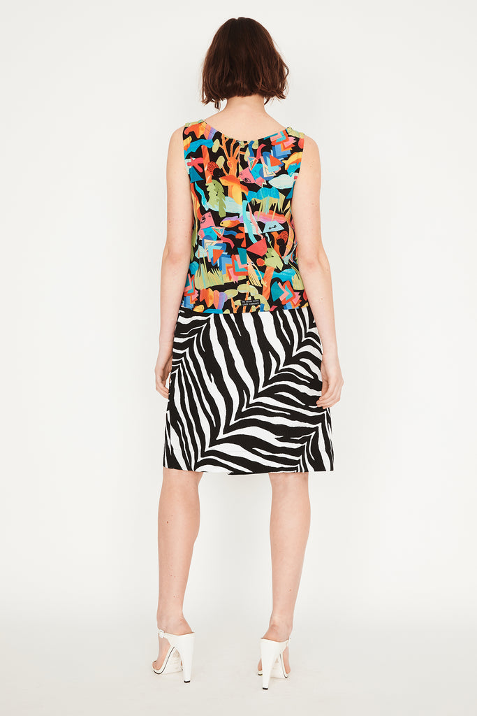 Jungle Wrap Midi Skirt