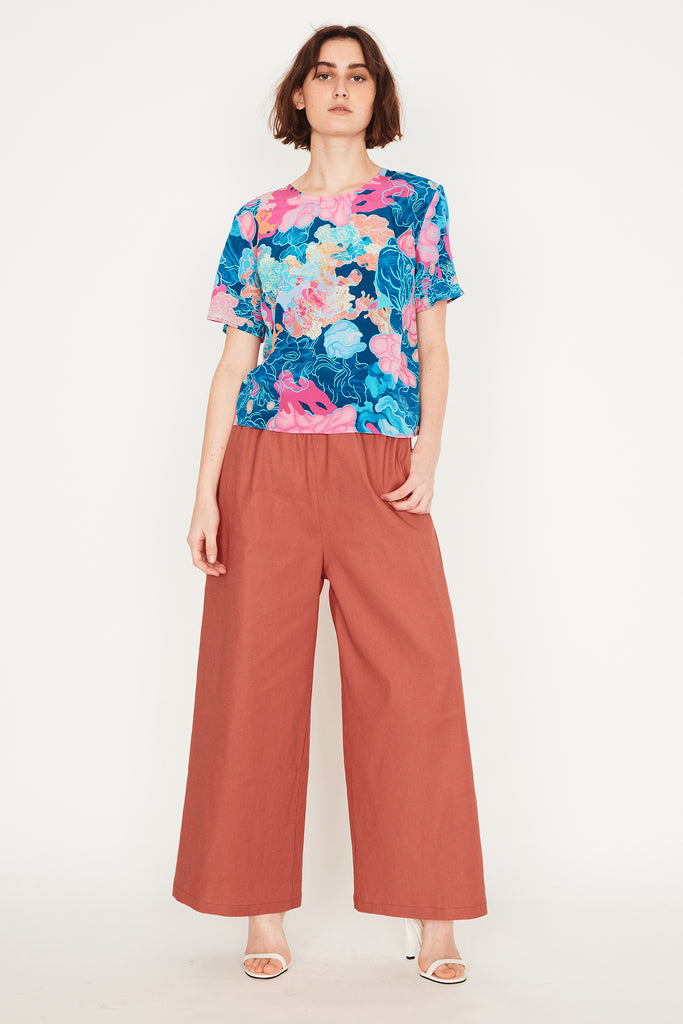 Ochre Relaxed Trousers