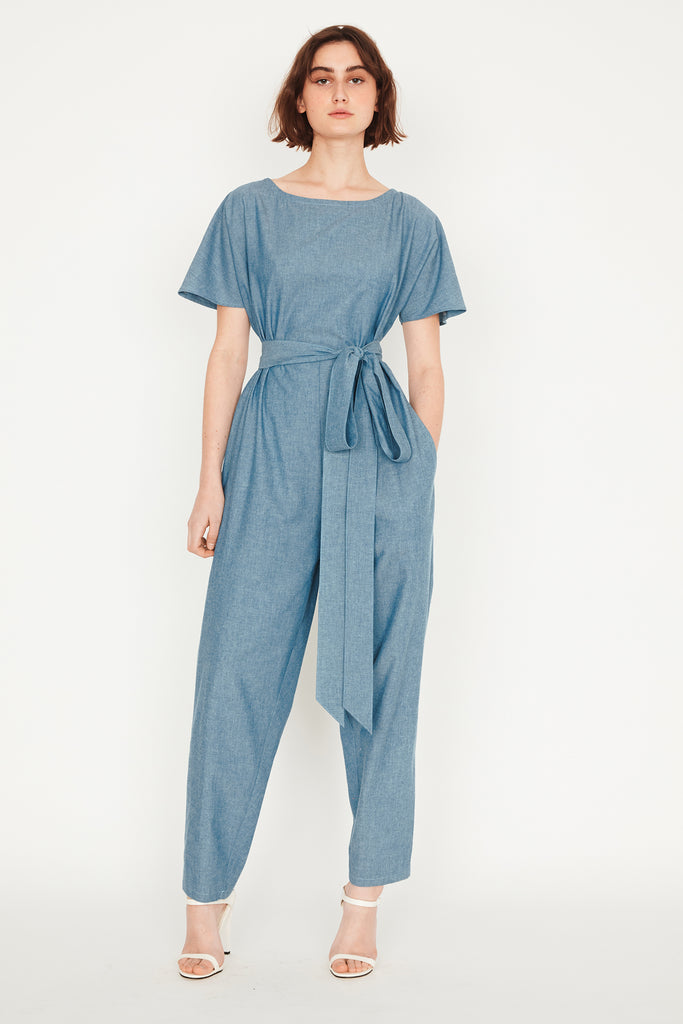Chambray Dolman Jumpsuit