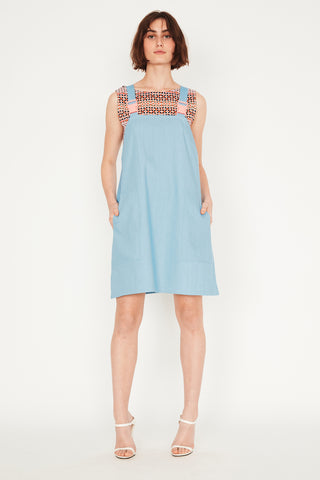 Cloud Denim Pinafore (with buckles)