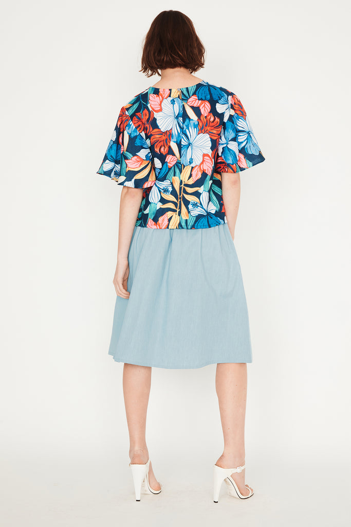 Tropical Butterfly Top