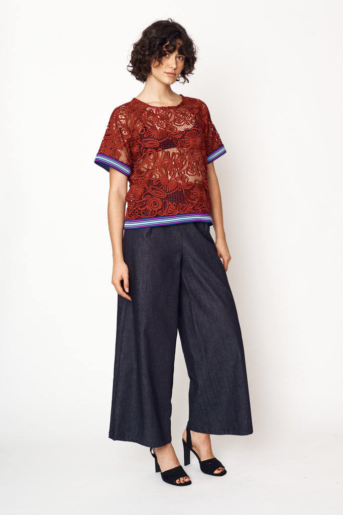 Dark Indigo Denim Culottes