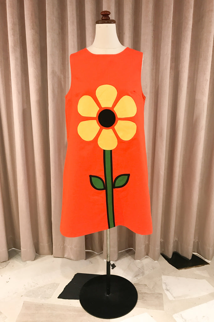 Our Sunflower Applique Dress, designed by Nikita Majajas in a collaboration between The Social Outfit and Doodad and Fandango