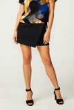 Black Neoprene Wrap Mini Skirt (was $169)