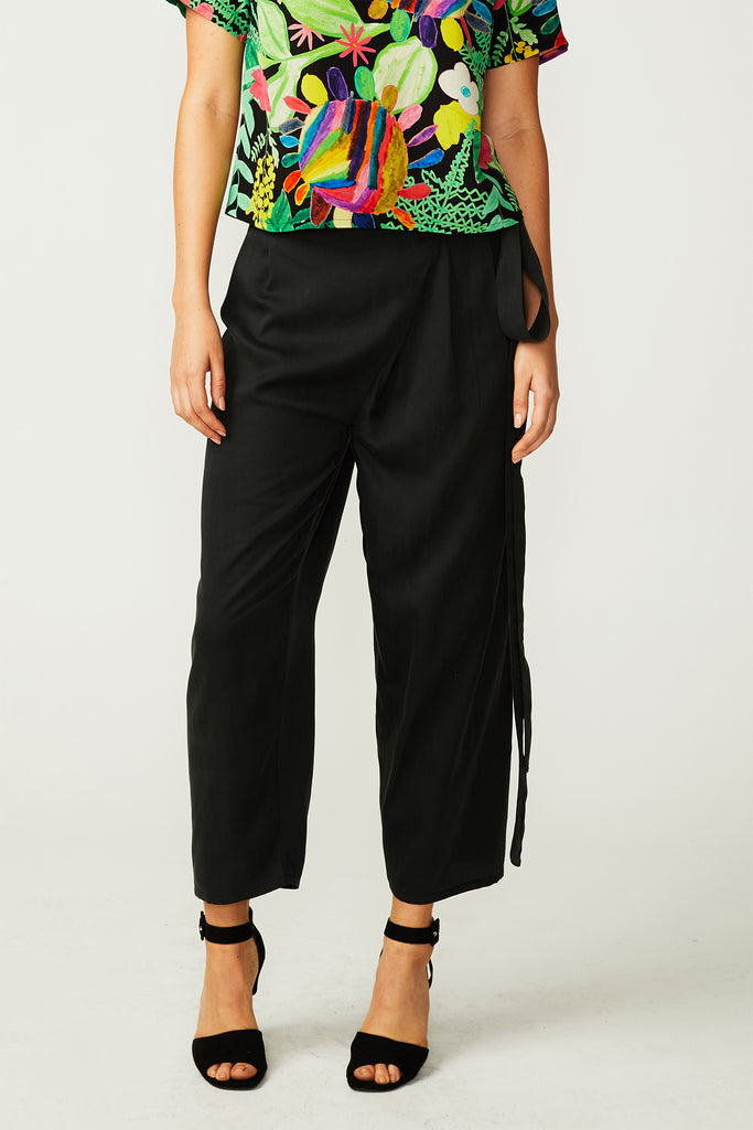 Black Tencel Wrap Pants (was $229)