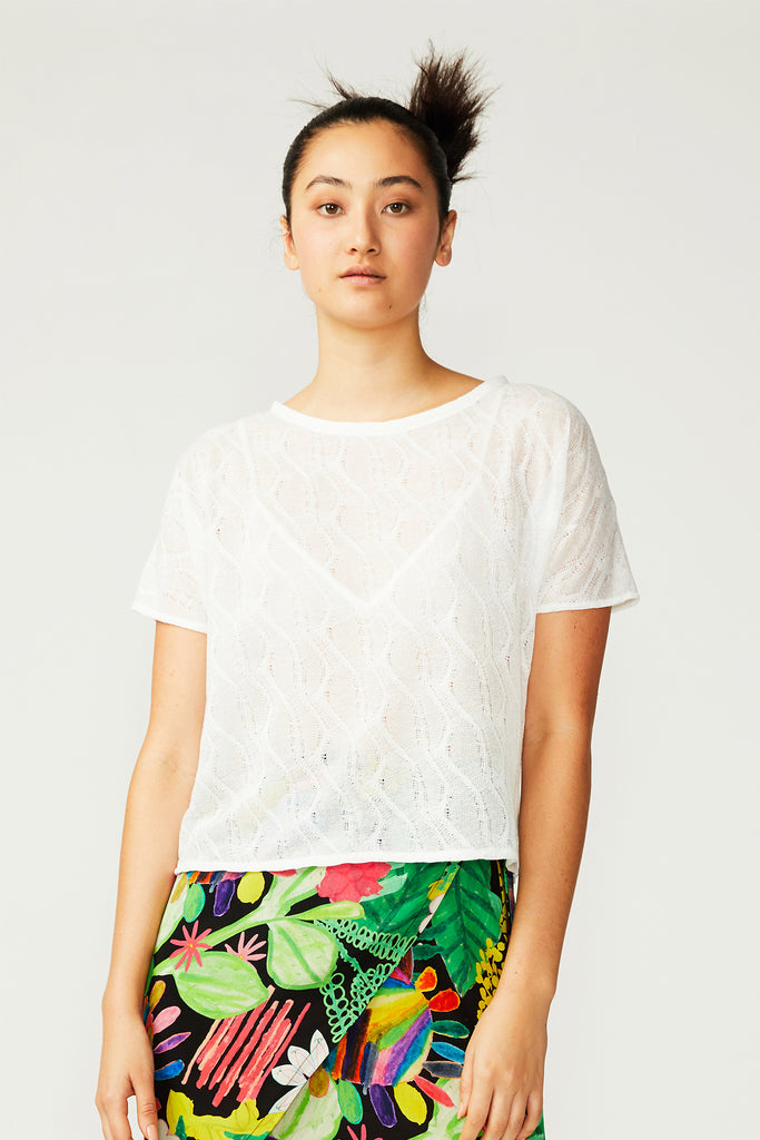 Carla Zampatti Lace Dolman Top (was $149)